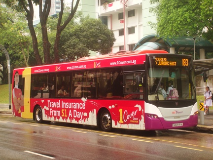 Bus Route: Tower Transit Singapore Service 183 | SGBuses com